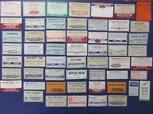 55 Old Pharmacy Apothecary Medicine Bottle Labels Diff