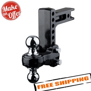 Fastway 49 00 5600 Flash Solid Steel Adjustable 2 ball Mount 2 Hitch 6 Drop