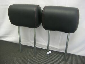 2004 2008 Ford F 150 Sport Back Seat Rear Headrests Head Rest Pair Black Leather