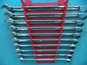 Snap On Flank Dr Plus Combo Wrench Set Soexm710 10mm 19mm 10 Pc W Rack X Lnt