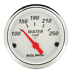 Autometer 1337 Arctic White Water Temperature Gauge 2 1 16 100 250 Deg F