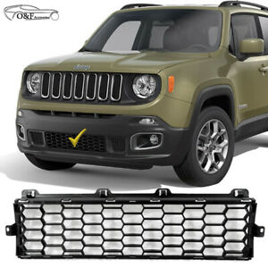 For 2015 2019 Jeep Renegade Front Lower Bumper Grill Matte Black Grille