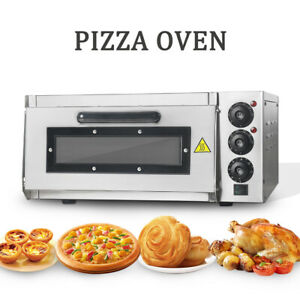 Commercial Electric Pizza Oven Single Layer Cake Bakery Machine Pizzeria Cooker