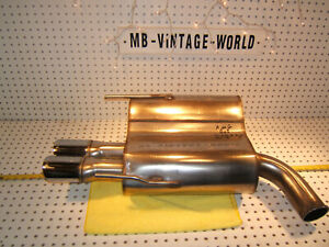 Mercedes W208 2001 Clk55 Amg Rear Exhaust Genuine Factory Amg 1 Muffler Amg Tip