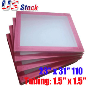 Usa 6pack 23 X 31 Aluminum Screen Printing Screens Frame 110 White Mesh Count