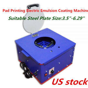 Us Electric Pad Printing Emulsion Coating Machine For Steel Plate Is 3 5 6 29