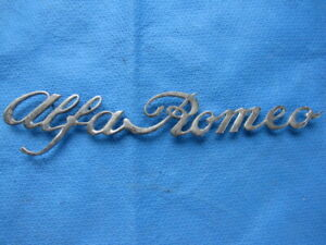 Alfa Romeo Rear Emblem Spider Trunk Boot Badge Jr Zagato 1970 82 Spider Metal