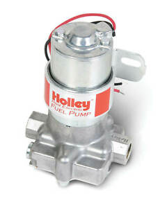 Holley 97 Gph Red Electric Fuel Pump W Bracket Street Strip Carb Gasoline Only