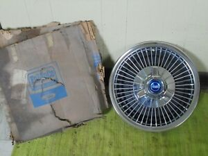 Nos 1967 Ford Wire Spoke Spinner Hub Cap 14 Wheel Cover 67 Hubcap