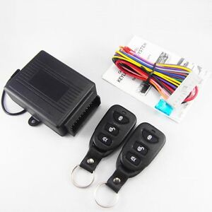 Car Door Lock Anti theft Key Less Entry System Remote Control Central Kit