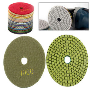 Dry Diamond Polishing Pad Set 20pcs 4 Sanding Disc For Granite Stone Concrete