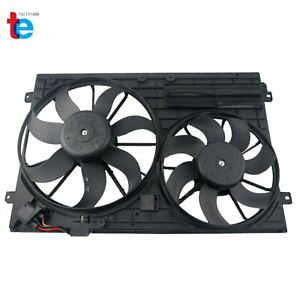 Radiator Cooling Dual Fan For Audi A3 Vw Jetta Cc Gtieos Beetle 1 8l 1 9l 2 0l