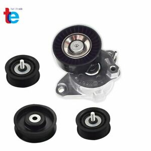 Belt Tensioner W Pulley Idler Pulley For Mercedes C300 C350 E350 Ml350 4pcs