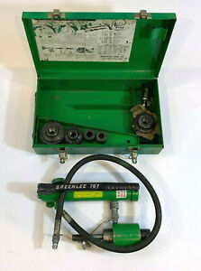 Greenlee 767 Hydraulic Knockout Punch With Punches And Case