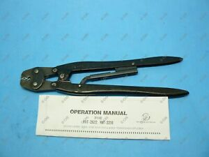 Jst Yht2210 H1 Hand Ratcheting Crimper For 22 10 Awg Non insulated Terminals