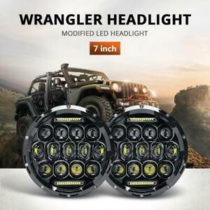 Dot 7 Inch 260w Round Osram Led Headlight Drl For Jeep Wrangler Jk Tj Cj Lj Jl