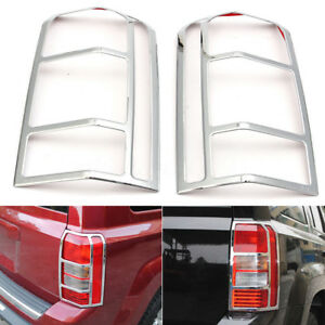 Chrome Tail Light Protect Cover Rear Lamp Frame Trim Fits Jeep Patriot 2007 2017