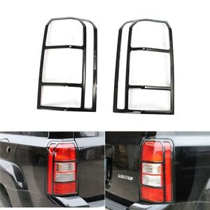Fits 2007 2017 Jeep Patriot Black Tail Lamp Frame Trim Rear Light Protect Cover