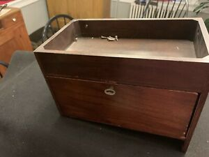 Antique Singer Treadle Sewing Machine Attachment Box For Enclosed Cabinet