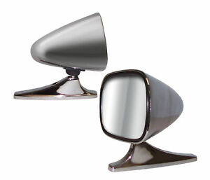 Dual Sport Universal Chrome Side View Car Mirrors 5 875 X 3 75