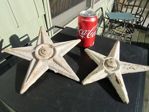 Antique Original Late 1800 S Cast Iron Fireplace Chimney Support Stars