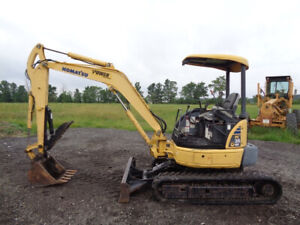 2007 Komatsu Pc35mr 2 Excavator Orops Hyd Thumb 29hp Yanmar Diesel Engine