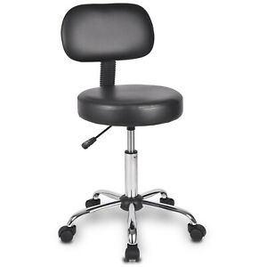 Rolling Chair Drafting Stool With Wheel Height Adjustable Swivel Black