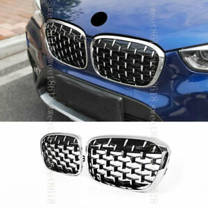 Silvery Star Network Sport Front Air Grille Kidney Grille For Bmw X1 F48 16 19