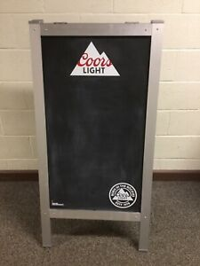 Large Coors Light Chalk Board Sandwich Menu Board 2 Sided Metal Framed 48 X 24