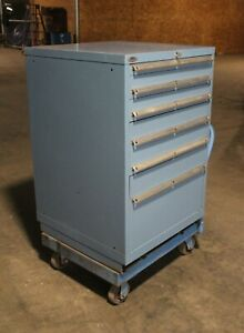 Lista 6 Drawer Steel Industrial Tool Storage Cabinet W Key And Cat Tool Rack