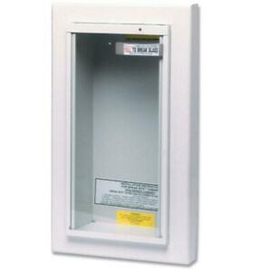 Fire Extinguisher Cabinet 10 Lbs Galvanized Steel Semi Recessed Tempered Glass