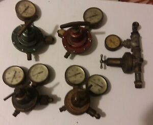 Vintage Torch Regulators And Gauges Lot torchweld Montgomery Ward Made In Usa