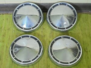 60 61 Ford Dog Dish Hub Caps 10 1 2 Set Of 4 Poverty Hubcaps 1960 1961