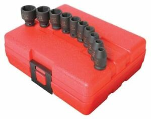 Sunex 10pc 1 4 Sae 6pt Point Impact Sockets Set Shallow Drive Inch Tools 1810