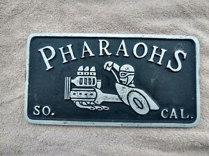 Car Club Plaque Hot Rod Vintage Parts Muscle Car Cragar Edelbrock Holley Carb 67