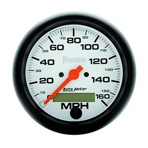 Autometer 5888 Phantom In Dash Electric Speedometer 3 3 8 160 Mph