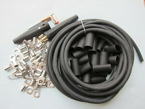 Lowrider Hydraulics Ground Disconnect 30ft 2g Cable Lugs Shrinking Tube