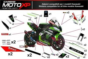 Stickers Decal Moto Race Compatible Zx10r 2016 2019 Sb17