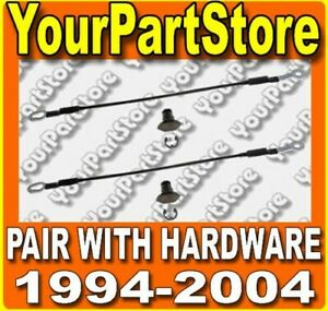 94 04 Chevy S10 Pickup Truck Tailgate Tail Gate Straps Left Right Cables Pair