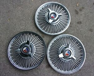 3 1963 1964 Ford Galaxie Or 1964 1 2 Mustang Spinner Hubcaps