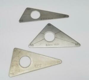 Synthes 333 03 Orthopedic 100 90 80 Triangular Positioning Set Of 3