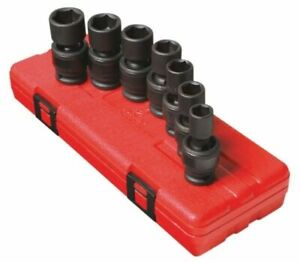 Sunex 7pc 1 2 Metric 6 Point Universal Impact Sockets Set Tools Drive Mm 2655