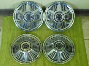 1965 Ford Mustang Hubcaps 13 Set Of 4 Wheel Covers 65 Hub Caps