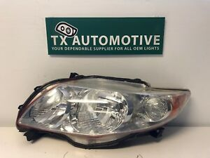 2011 2012 2013 Toyota Corolla Headlight Left Lh Driver Chrome Oem Headlamp J78