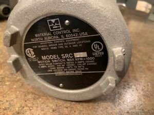 Material Controls Src1g Motion Switch 1000rpm 120 240v ac