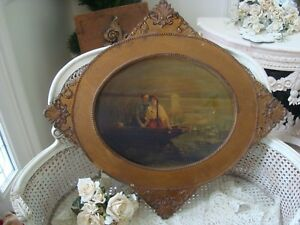 Gorgeous Large Shabby Wooden Ornate Frame So Pretty