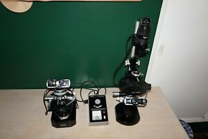 Two Nikon Microscopes one Upright And One Inverted And One Shared Light Source