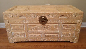 Chinese Camphor Chest Hand Made Hand Carved