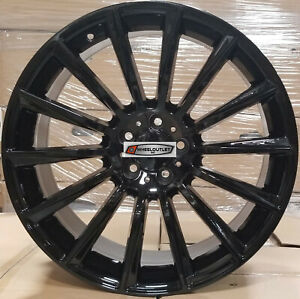 20 Twist Style Rims Black Stagger Wheels Fit Mercedes S Class S550 Cl Cls Amg