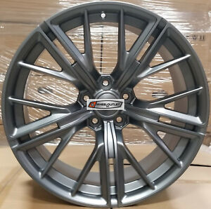 20 New Zl1 Style Wheels Gunmetal Stagger Rims Fit Chevy Camaro Rs Ss Z28 Ls Lt